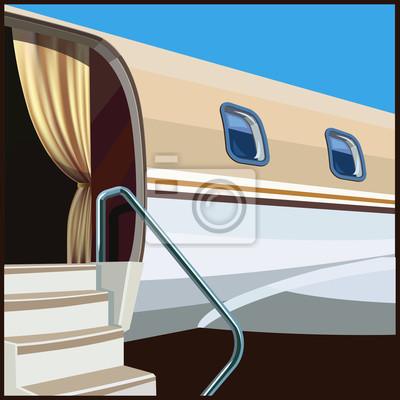 Ilustración de aviación privada