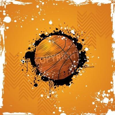 Póster ilustración de baloncesto en el fondo abstracto sucio