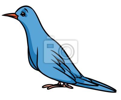 Ilustración de dibujos animados de pájaro azul aislado imagen ...