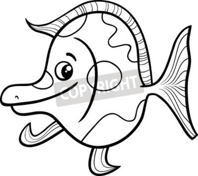 Ilustración de dibujos animados en blanco y negro de animales ...