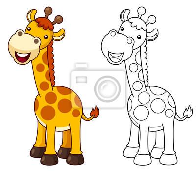 Ilustración de dibujos animados jirafa vector carteles para la pared ...