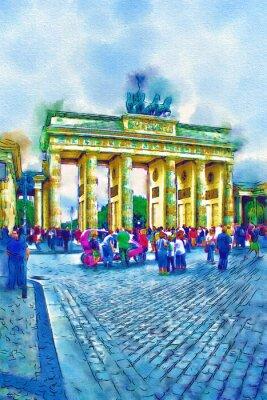 Póster Ilustración del arte de Berlín