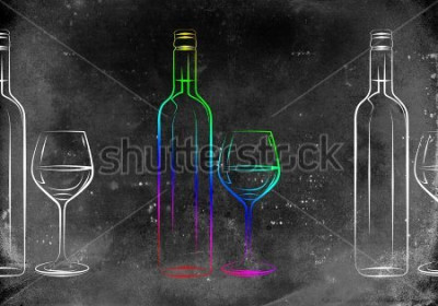 Póster Ilustración del arte del vino