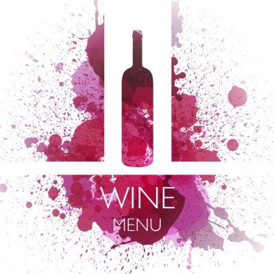Póster Ilustración del vector del vino plantilla de diseño