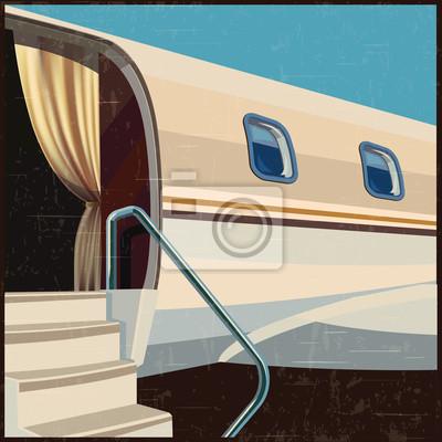 Ilustración privada de la aviación poster