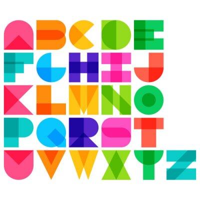 Póster Ilustración vectorial de color de la fuente