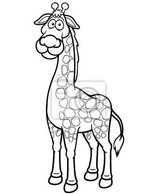 Ilustración vectorial de dibujos animados de la jirafa - libro ...
