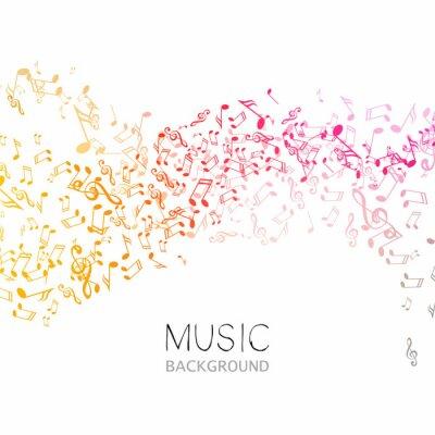 Póster Ilustración vectorial de un fondo de música abstracta