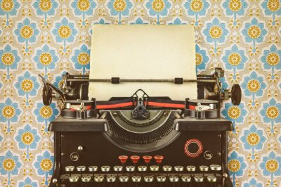 Póster Imagen de estilo retro de una vieja máquina de escribir
