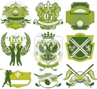 insignias de golf