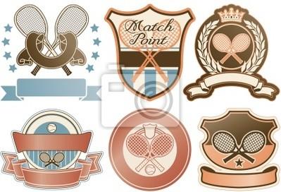 insignias tenis vector