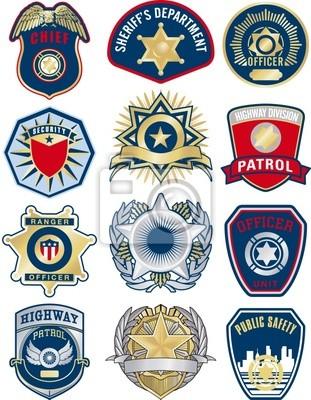 insignias vectoriales policía