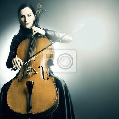Instrumento Musical Cello Chelista Musico De Juego Carteles