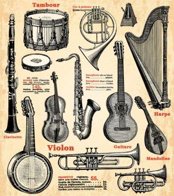 Póster Instruments de musique