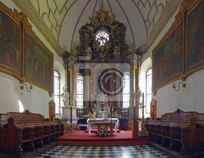 Interior de la catedral vieja en Zamosc, Polonia.