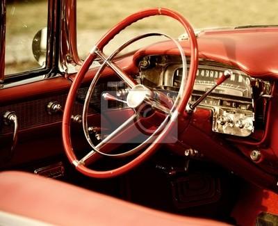 Interior del coche retro