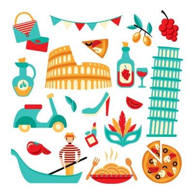Póster Italia conjunto decorativo