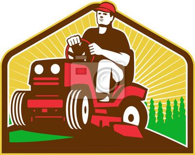 Jardinero paisajista Ride On Lawn Mower Retro