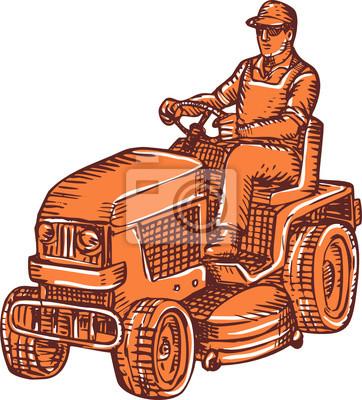 Jardinero Ride-On Segadora Aguafuerte