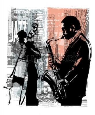 Póster Jazz en Nueva York - ilustración vectorial