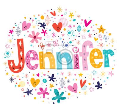 pster jennifer nombre femenino letras decorativas tipo de diseo - Letras Decorativas