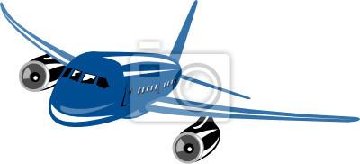 Jet avión volando