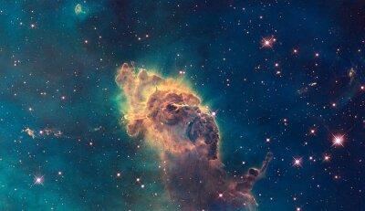 Póster Jet en Carina Nebula. Compuesto de gas y polvo.