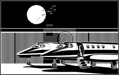 Jets de negocios de lujo estilizados