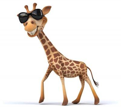 Póster jirafa divertida