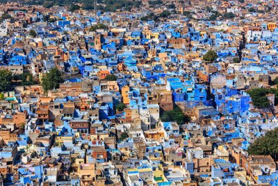 Póster Jodhpur la ciudad azul, Rajastán, India