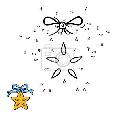 Juego De Numeros Para Ninos Estrella De Navidad Carteles Para La