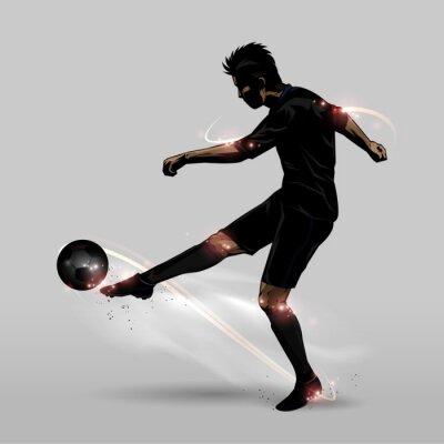 Póster Jugador de fútbol media volea