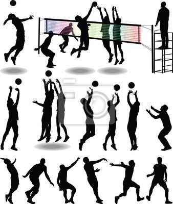 Póster jugador de voleibol
