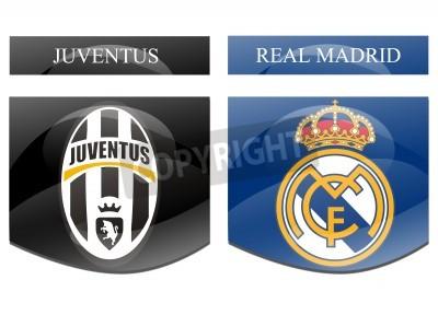 Póster Juventus vs real madrid