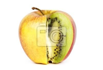 Kiwi en la manzana