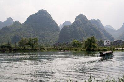 Póster Krajobraz okolic Yangshuo