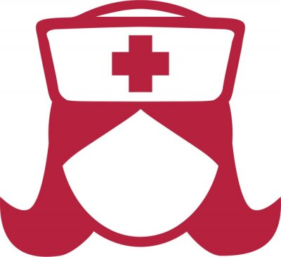 Krankenschwester Piktogramm Kopf Símbolo