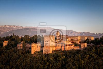 La Alhambra de Granada en España