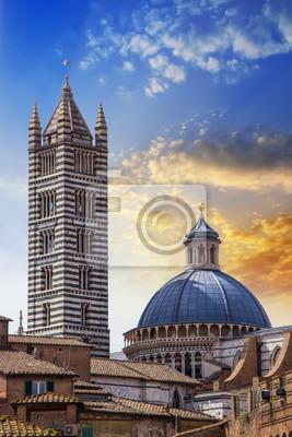 La Catedral de Santa María, Siena, Toscana, Italia