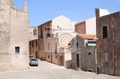 La ciudad de Erice. Sicilia. Italia.