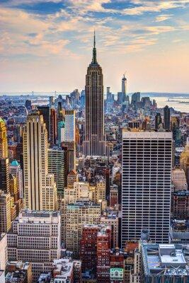 Póster La ciudad de Nueva York en la oscuridad