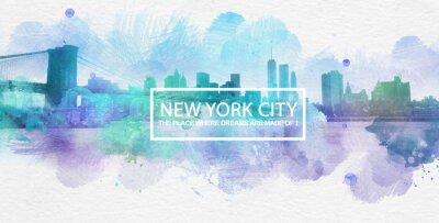 Póster La ciudad de Nueva York es donde los sueños se hacen Postal