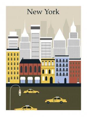 Póster La ciudad de Nueva York. Vector