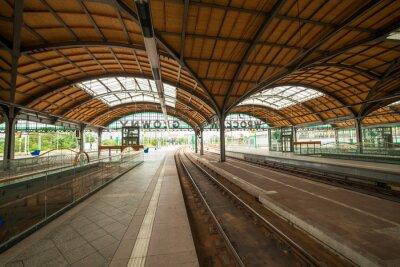 Póster la estación de tren de Wrocław