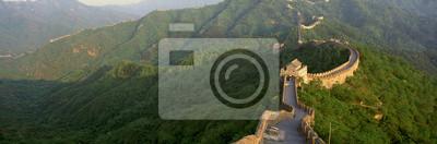 Póster La Gran Muralla en Mutianyu en Beijing en la provincia de Hebei, República Popular China