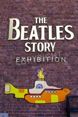 Póster La historia Exposición Beatles en Liverpool