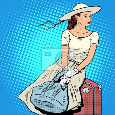 La niña de equipaje de pasajeros