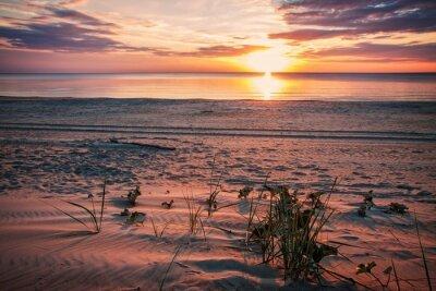 Póster La noche en calma en la playa