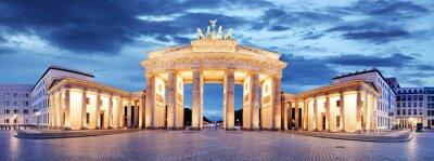Póster La Puerta de Brandenburgo, Berlín, Alemania - Panorama