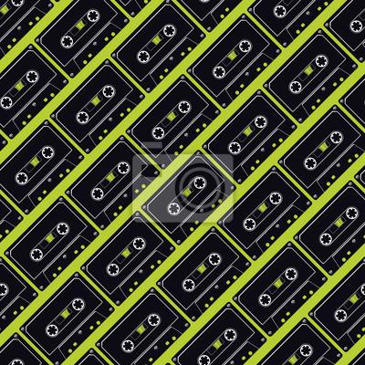 Póster La repetición de la cinta de casete Fondo Transparente